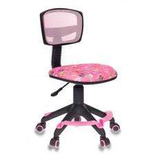 Кресло Бюрократ CH-299 с подставкой для ног розовые сланцы