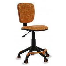 Кресло детское Бюрократ CH-204 с подставкой для ног оранжевый жираф
