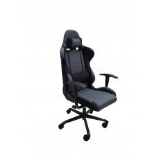 Кресло игровое Бюрократ 771N черное/серое