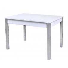 Стол Гала-16 подстолье белое/стекло белое