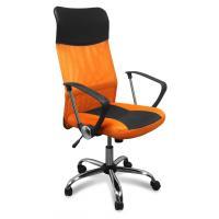 Кресло офисное 8011 оранжевое/черное