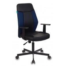 Кресло Бюрократ СН-606 черное/синее