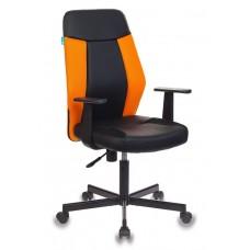 Кресло Бюрократ СН-606 черное/оранжевое